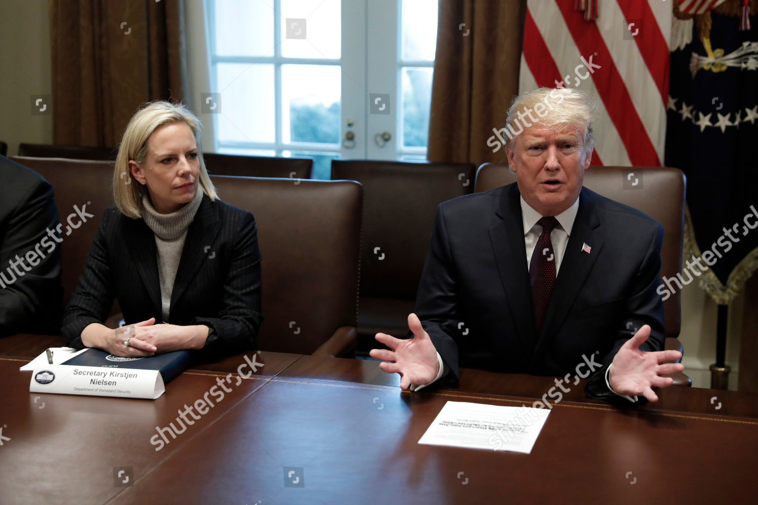 Trump Round Table.United States President Donald J Trump Right Editorial Stock Photo
