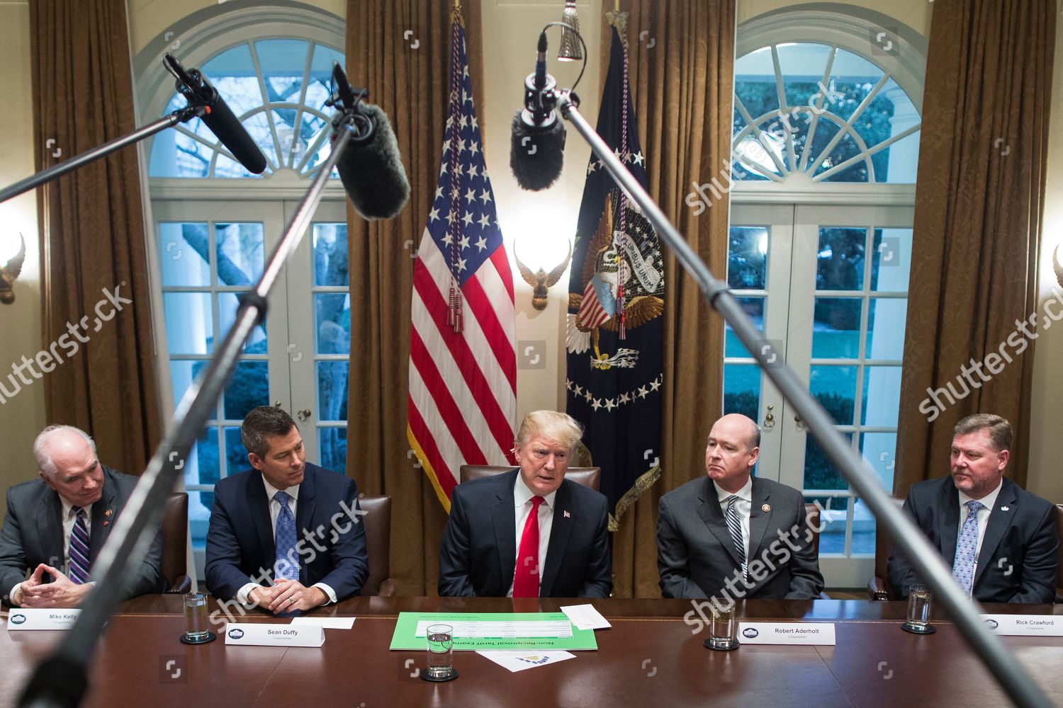Us President Donald Trump C Delivers Remarks Editorial Stock Photo
