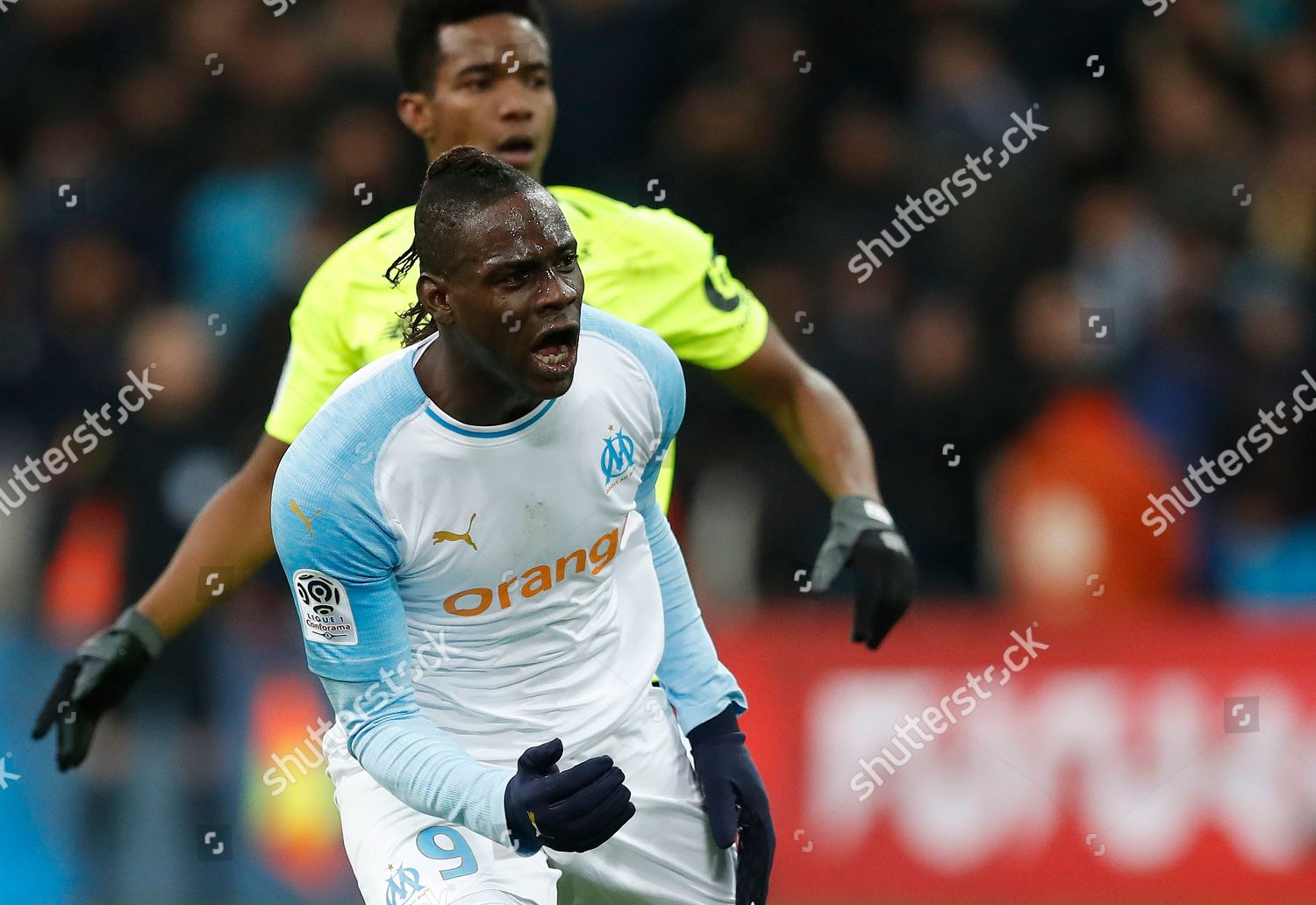 7ac4ce887b389 Mario Balotelli Olympique Marseille celebrates after scoring ...