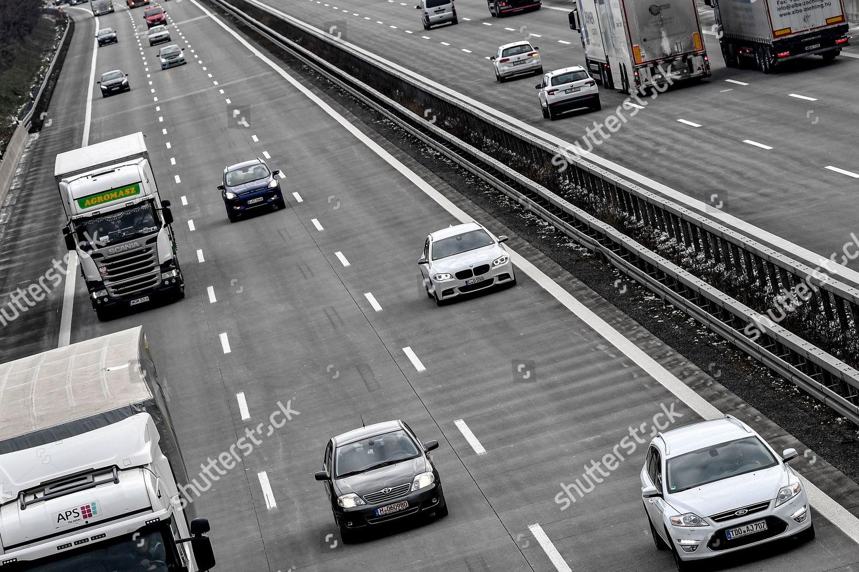 Traffic on German autobahn 14 Leipzig Germany Editorial