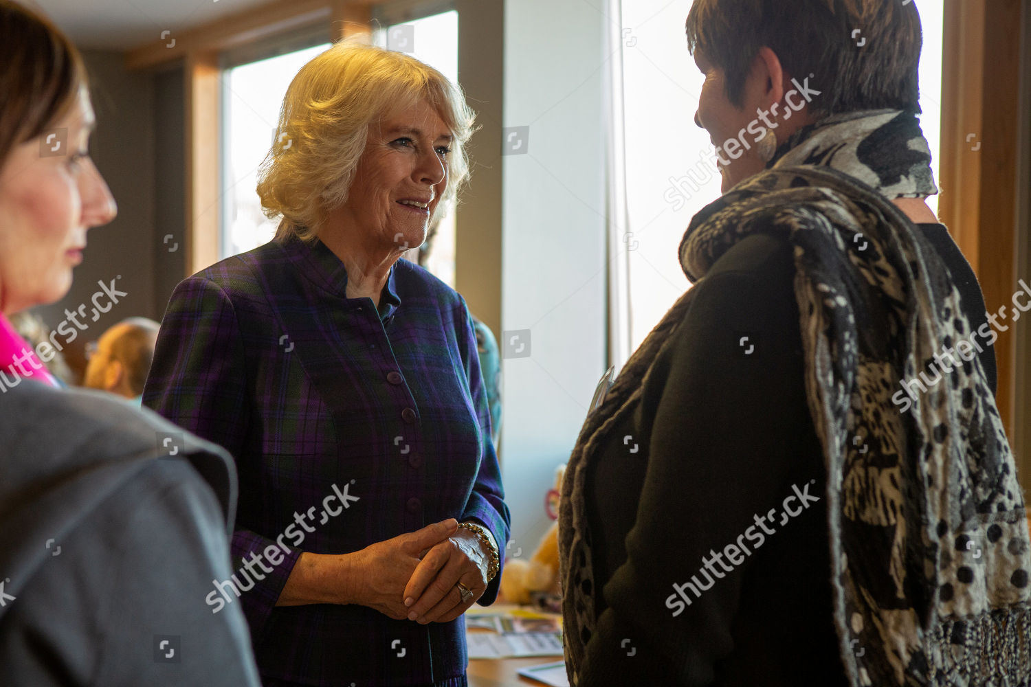 Camilla Duchess Cornwall meets Nurse GPs Editorial Stock