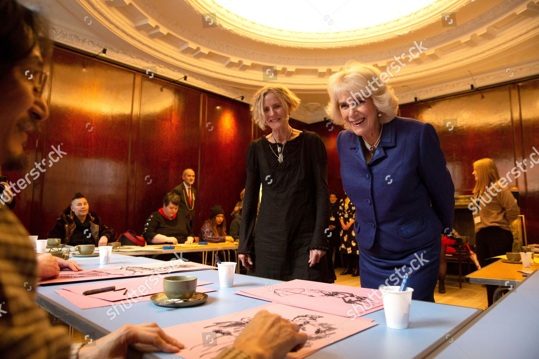 Camilla Duchess Cornwall Visiting Refurbished Wolfson British Academy Editorial Stock Photo Stock Image Shutterstock