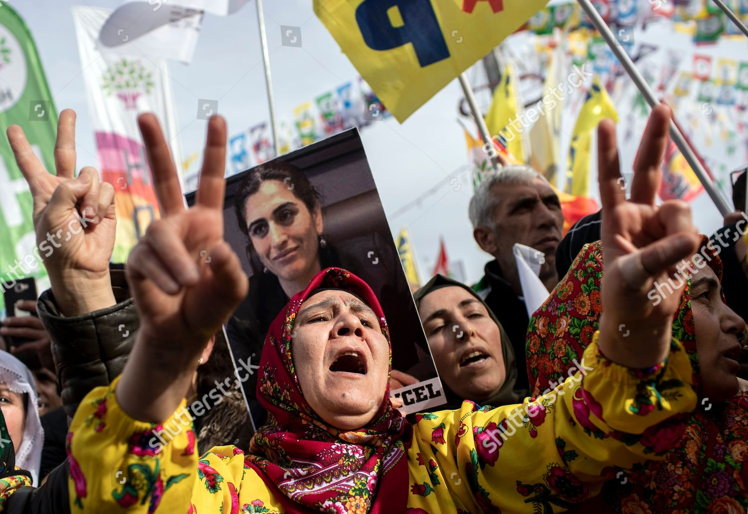 Supporter proKurdish party Peoples Democratic Party HDP