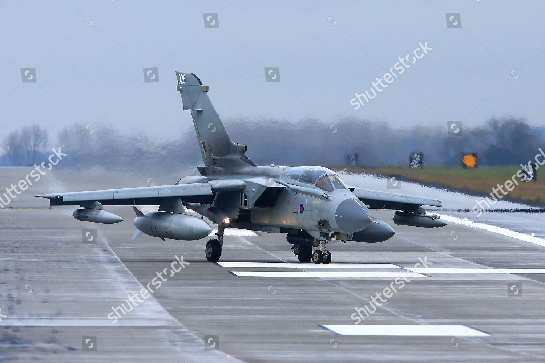 Royal Air Force Tornado GR4 turns off Editorial Stock Photo