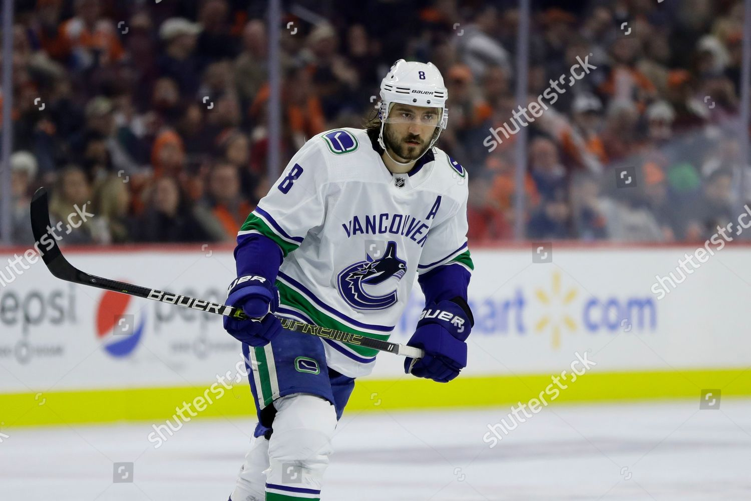 Vancouver Canucks Chris Tanev action during NHL Editorial Stock ... 70a8972b6