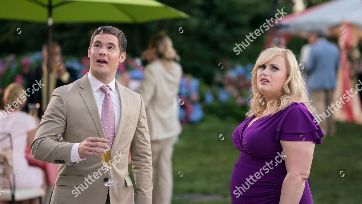a romantic movie 2019 Adam Devine Josh Rebel Wilson Natalie Editorial Stock Photo