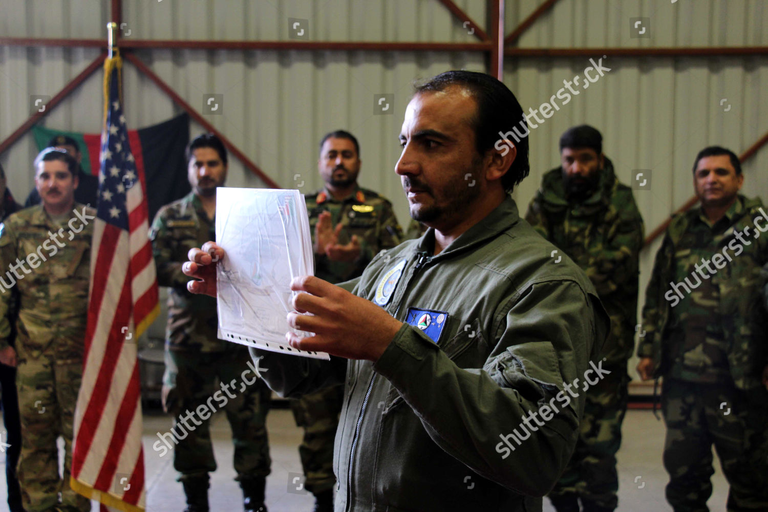 Afghan Air Force pilots attend graduation ceremony Editorial Stock