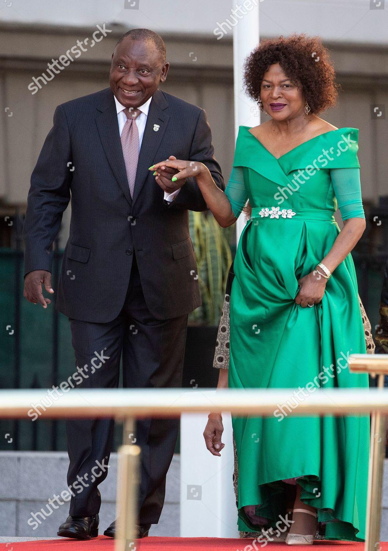 President South Africa Cyril Ramaphosa L Walks Editorial Stock Photo Stock Image Shutterstock