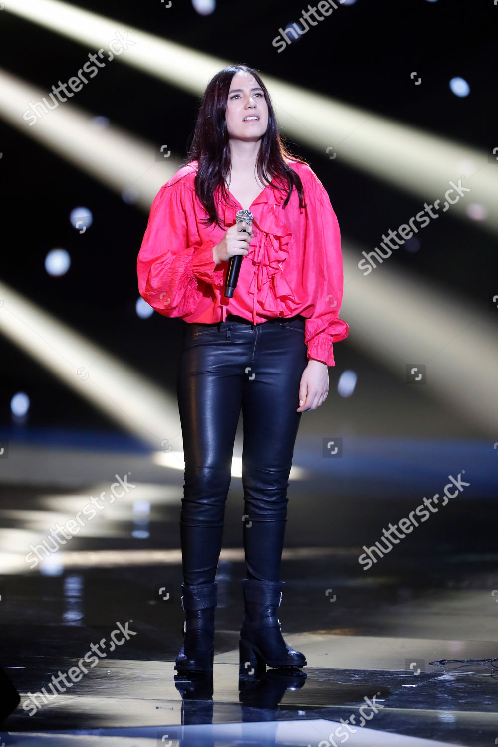 French singer Izia Higelin performs on stage Editorial Stock Photo