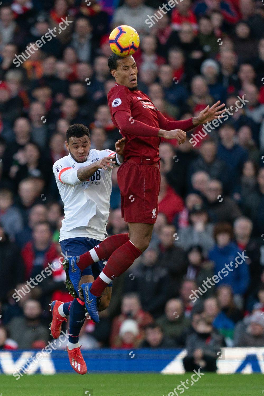Liverpools Virgil Van Dijk Wins Header Under Editorial Stock Photo Stock Image Shutterstock