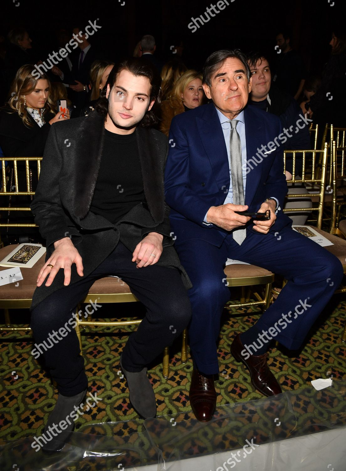 Stock photo of Dennis Basso show, Front Row, Fall Winter 2019, New York Fashion Week, USA - 11 Feb 2019