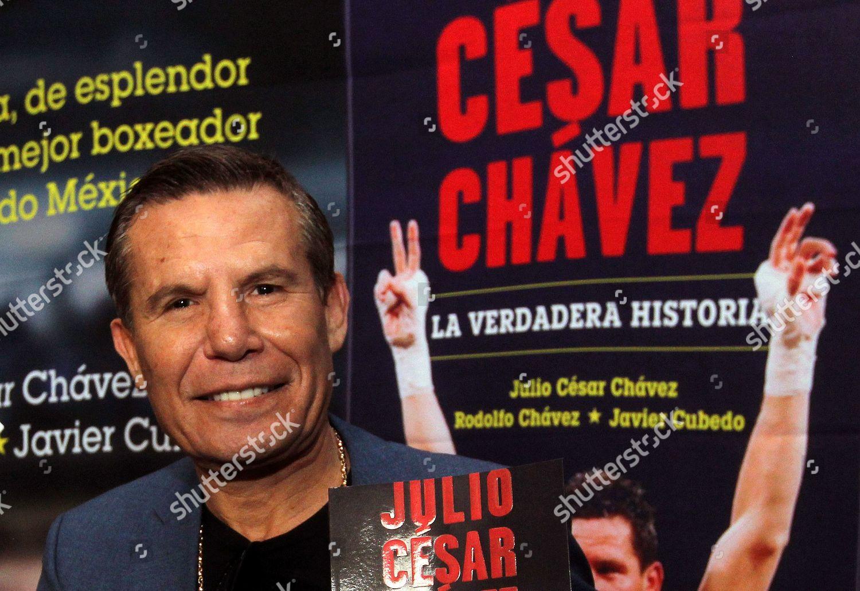 Stock photo of Former Mexican boxer Julio Cesar Chavez presents his book,  Mexico City -
