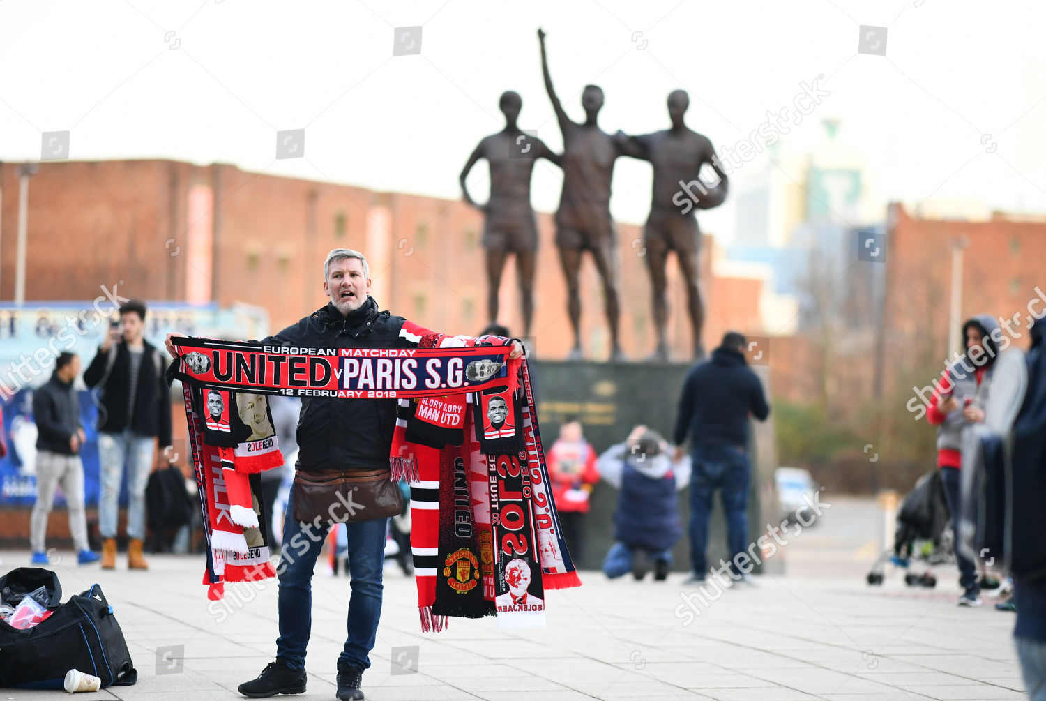 merchandise seller outside ground before kick off Editorial
