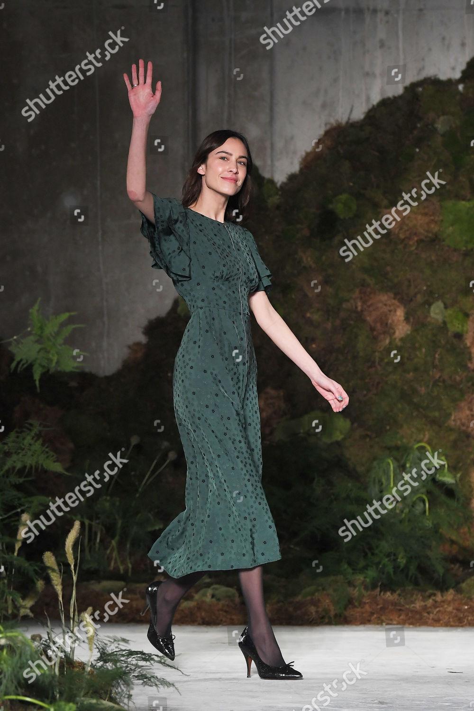 Editorial Stock Photo Of Fashion Designer Alexa Chung On Catwalk
