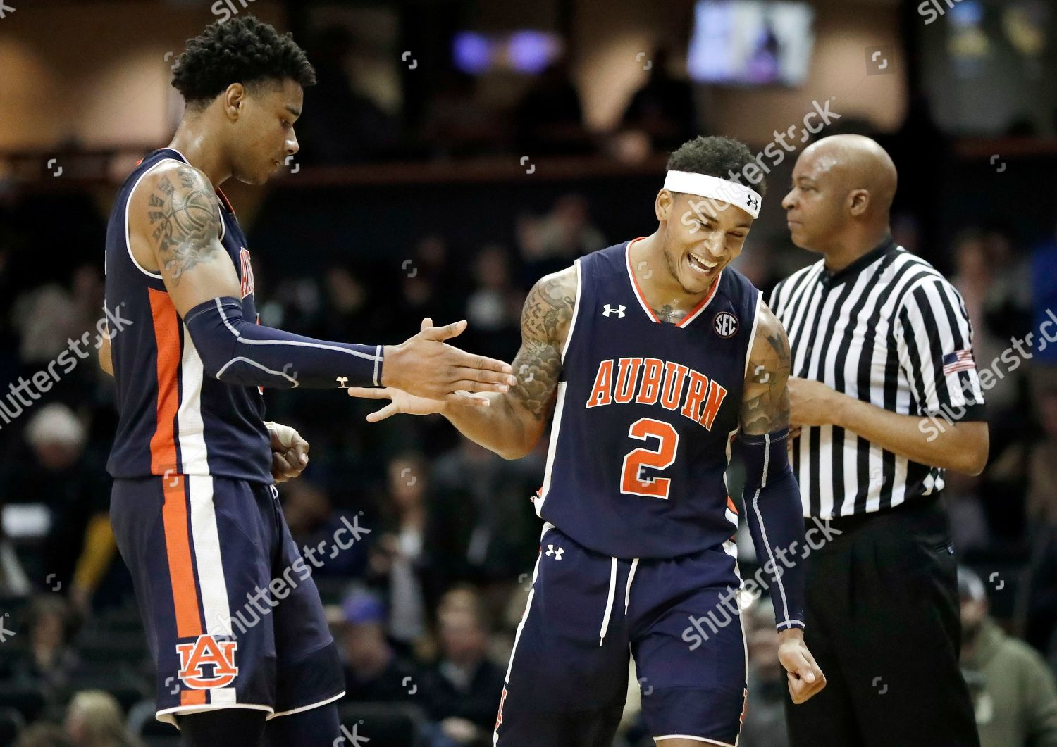 Chuma Okeke Bryce Brown Auburn Forward Chuma Editorial Stock