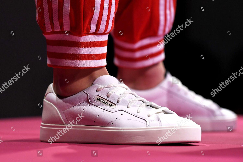 Hambre Ingresos esfuerzo  Model Adidas Originals Presentation Editorial Stock Photo - Stock Image    Shutterstock