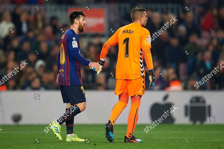 Enric Masip FC Barcelona Lionel Messi FC Editorial Stock Photo