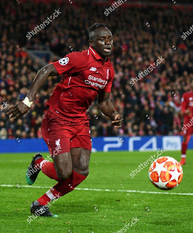 Uefa Champions League Round Of: Sadio Mane Liverpool Editorial Stock Photo