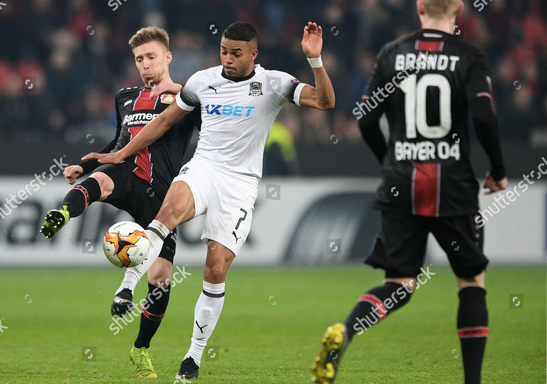 Leverkusens Mitchell Weiser L Action Krasnodars Wanderson Editorial Stock Photo Stock Image Shutterstock