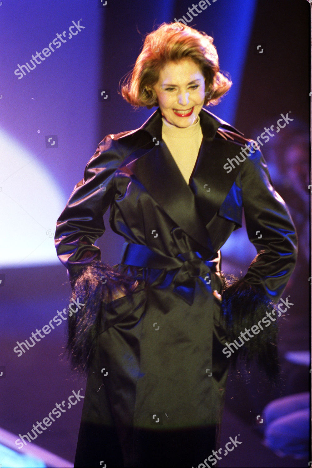 3d3809f25 Stock photo of Thierry Mugler Fashion Show - Paris. Clothes Modelled By Cyd  Charrise.