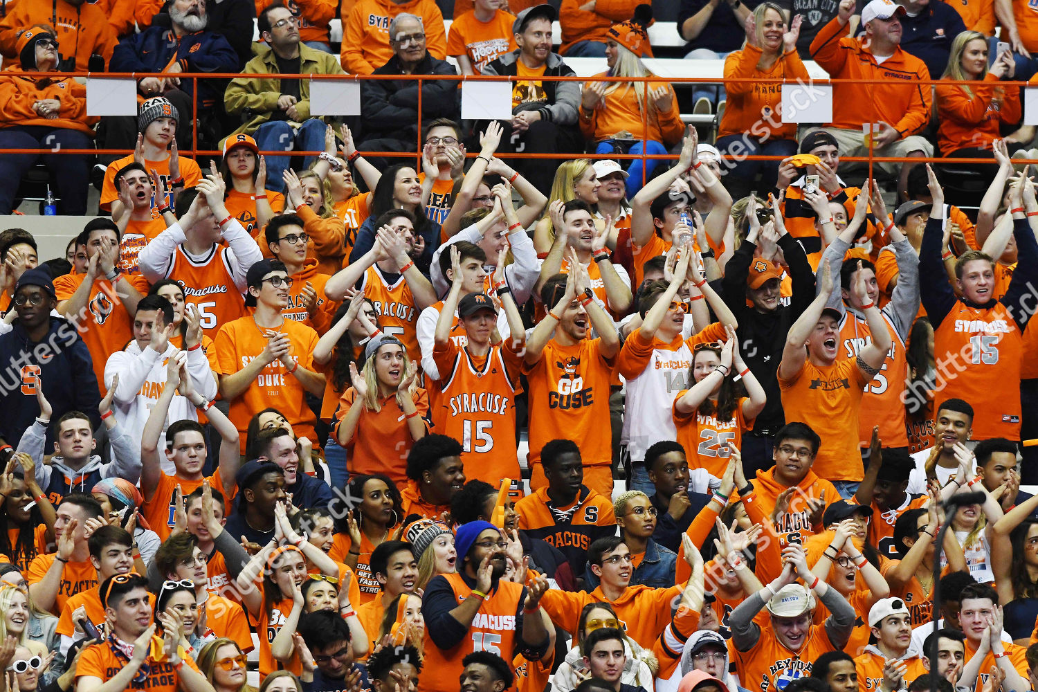 Syracuse Crowd 35642 Fans Makes Some Noise Editorial Stock