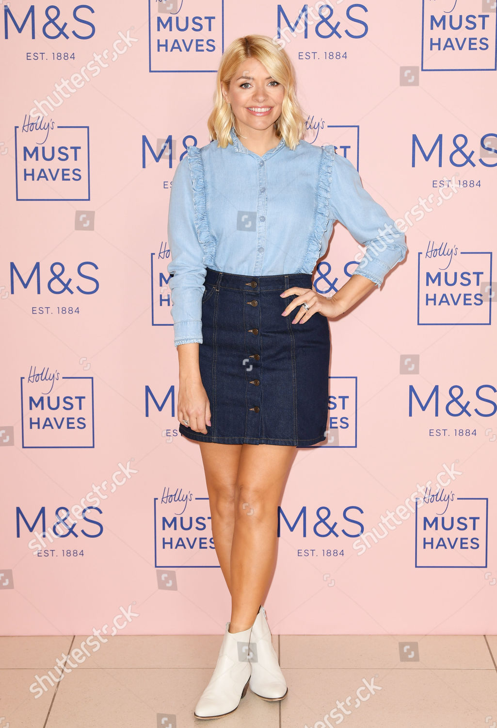 0e08f9580602 Holly Willoughby Marks and Spencer collection launch, Westfield, White  City, London, UK