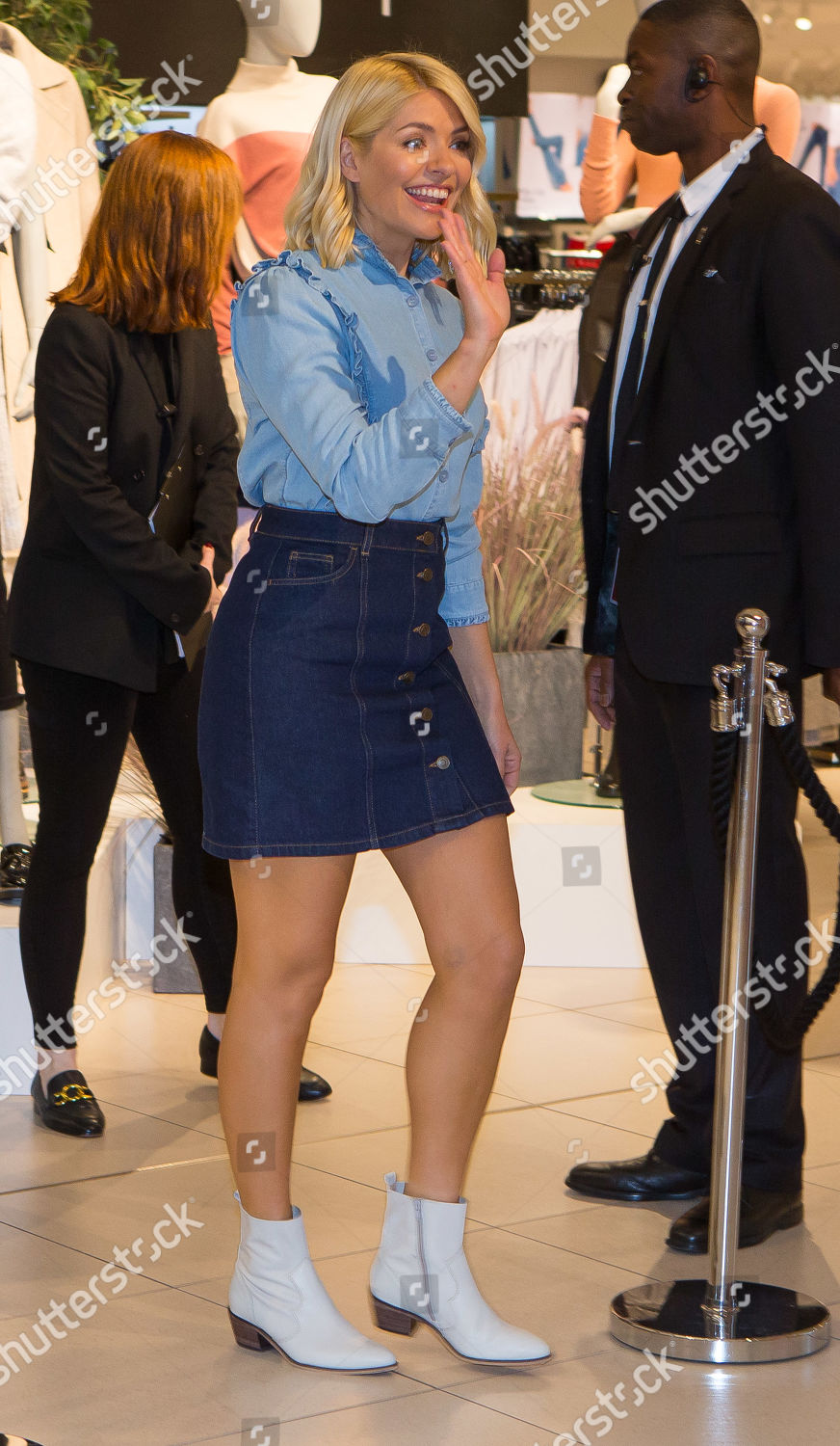125e73992 Holly Willoughby Marks and Spencer collection launch, Westfield, White  City, London, UK