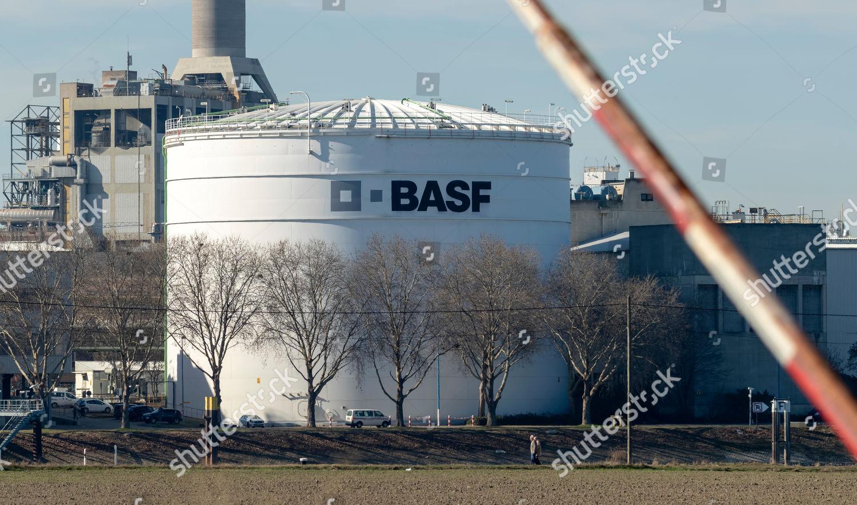 view storage tank logo German chemicals company Editorial