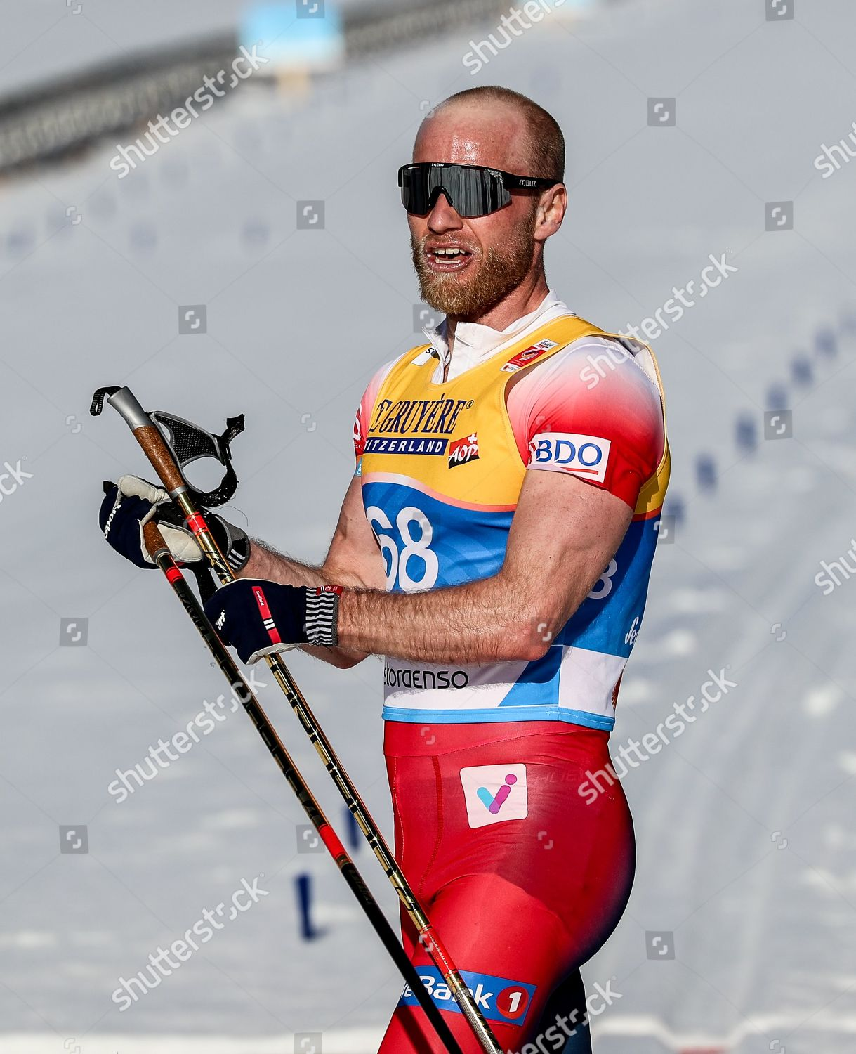 Martin Johnsrud Sundby Norway Reatcs After Crossing Editorial Stock Photo Stock Image Shutterstock