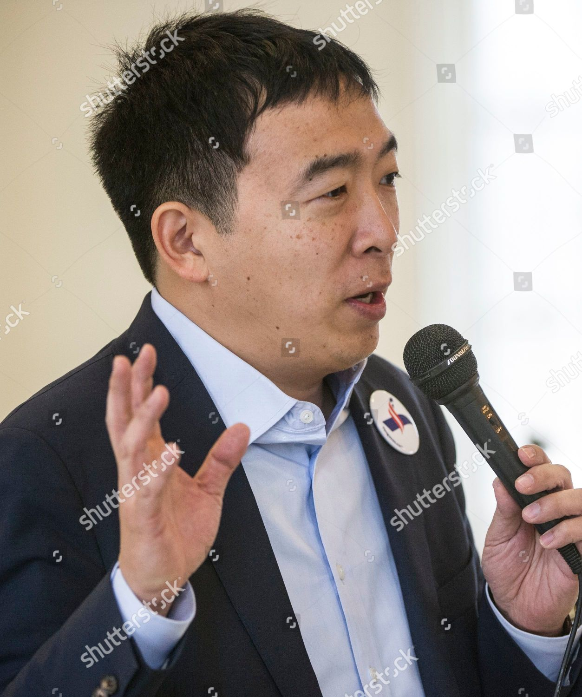Andrew Yang candidate Democratic primaries president speaks
