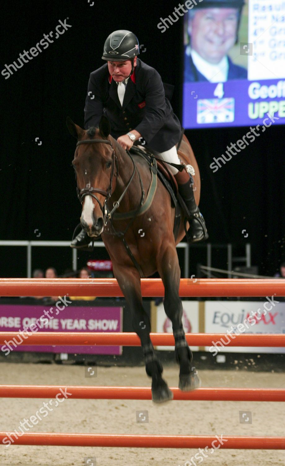 Geoff Billington GBR riding Uppercut Sky Sports Editorial Stock