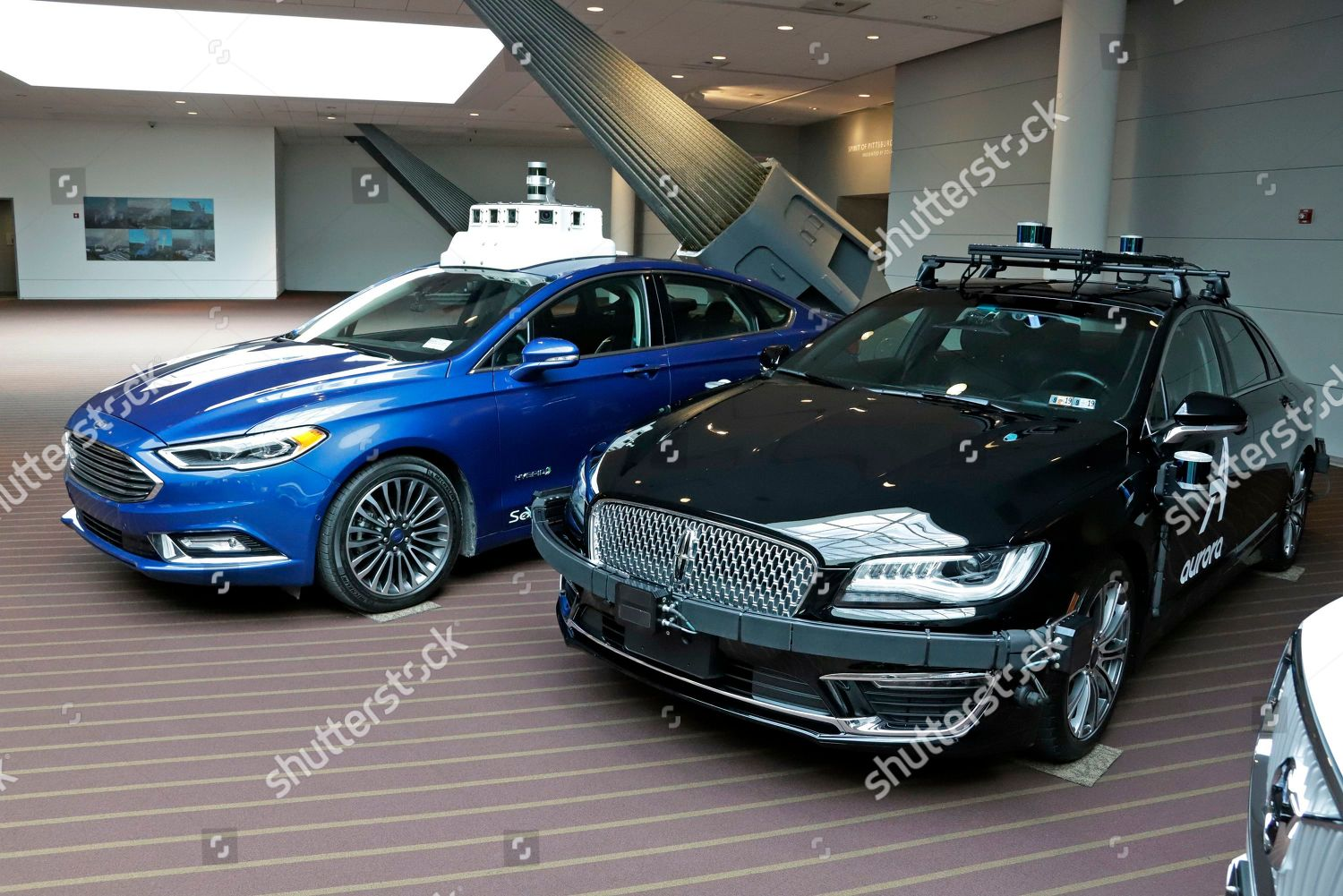 These autonomous vehicles Lincoln designed being tested Foto