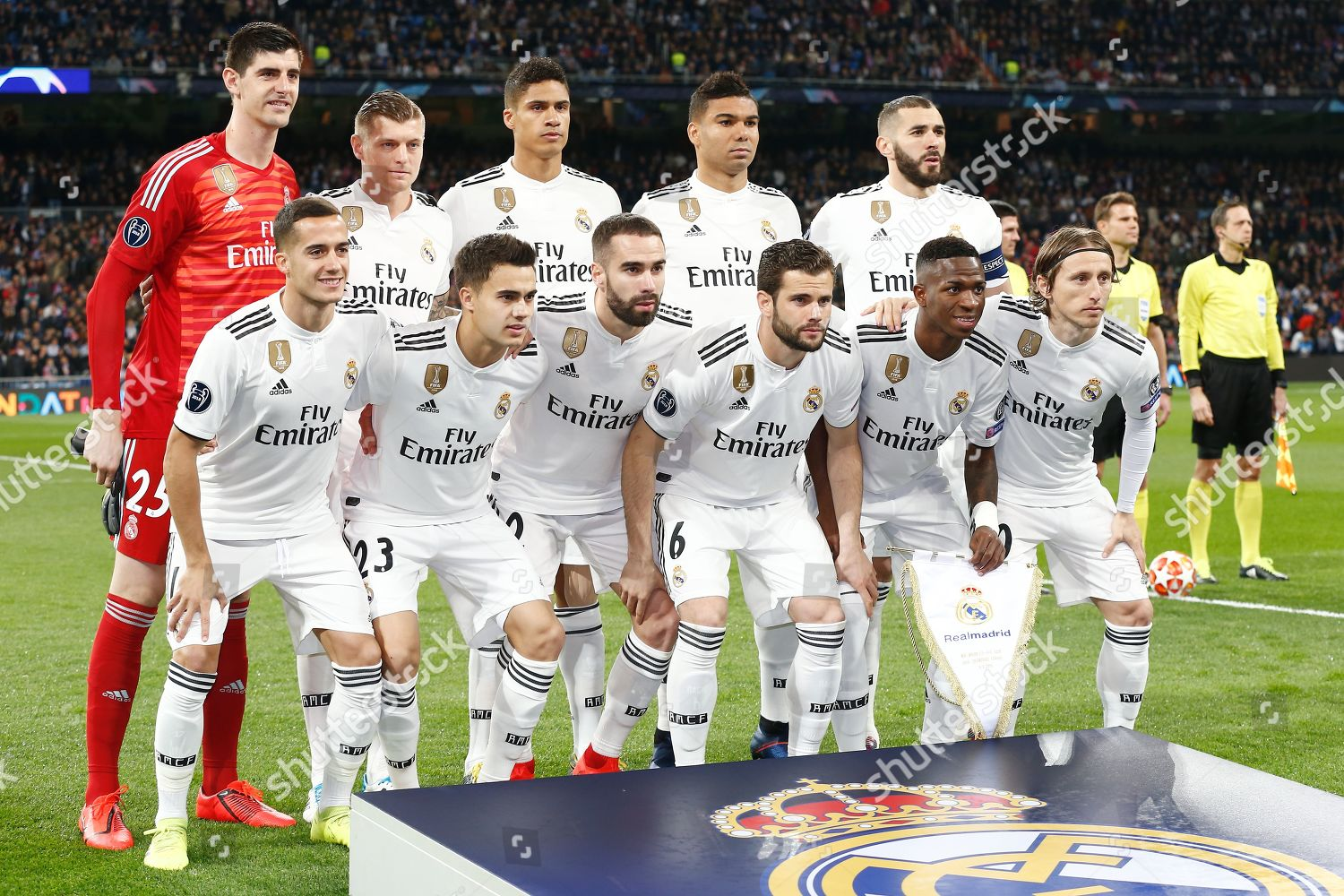 Real Madrid Team Group Lineup Editorial Stock Photo Stock Image