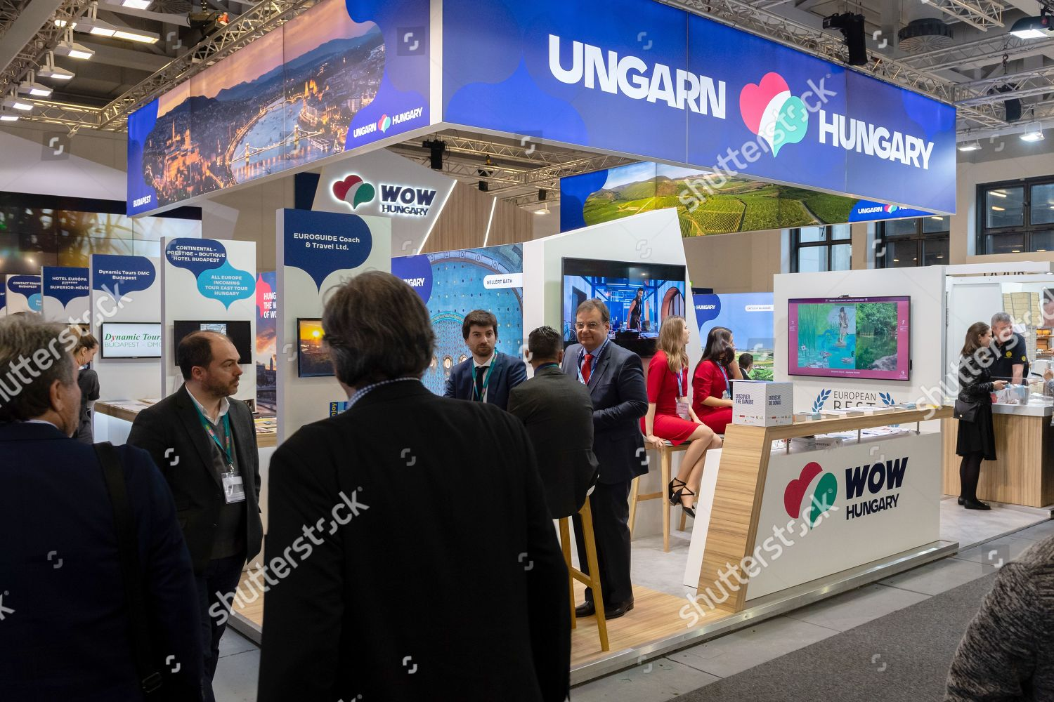 Exhibitors guests on stand Hungary International Travel