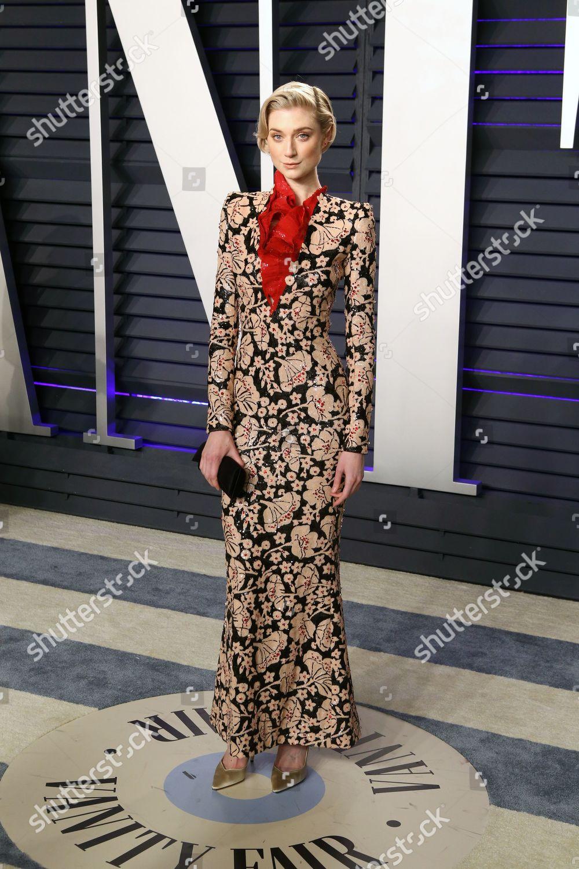 Elizabeth Debicki Poses 2019 Vanity Fair Oscar Foto Editorial Imagem De Banco Shutterstock