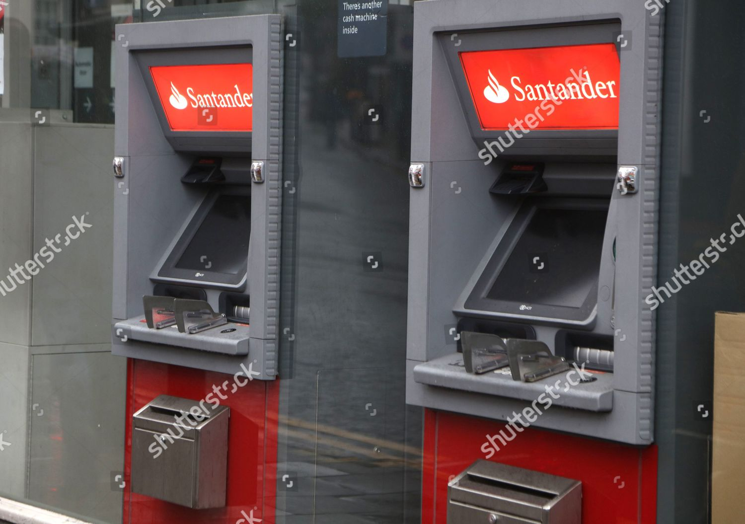 ATM Santander bank Crouch End branch Editorial Stock Photo