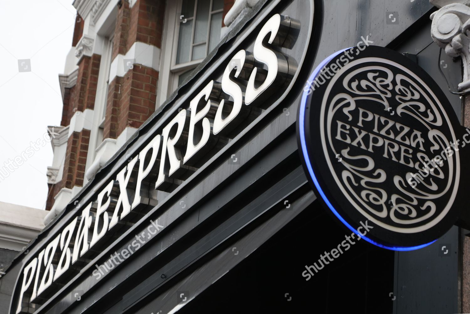 Pizza Express Signage Muswell Hill Branch Editorial Stock