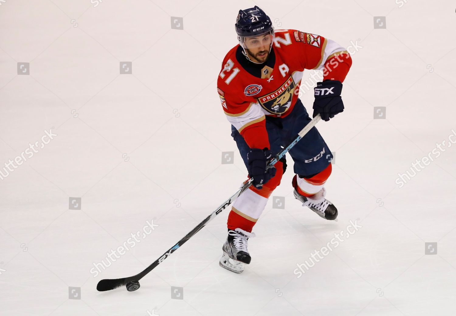 Florida Panthers center Vincent Trocheck passes puck Editorial Stock