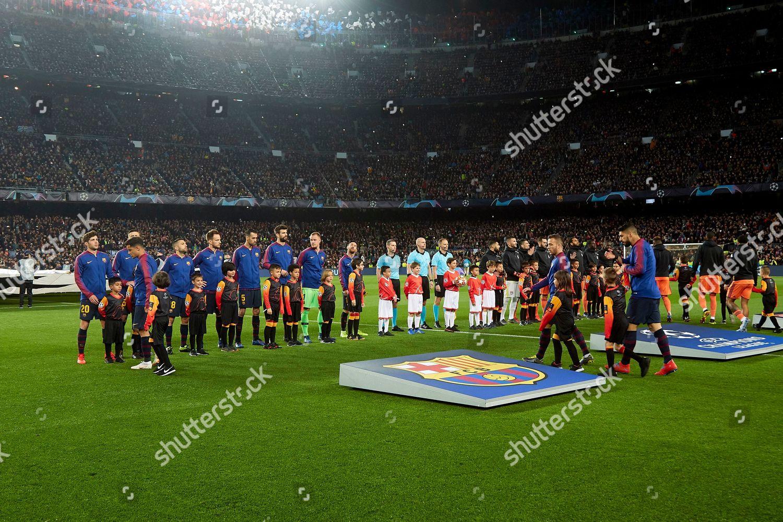 Fc Barcelona Team Entering Field Editorial Stock Photo Stock Image Shutterstock