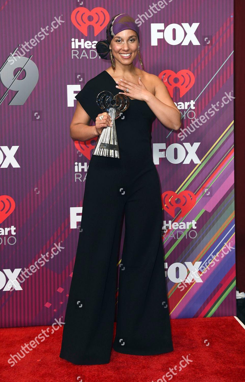 Alicia Keys poses press room music innovator Editorial Stock