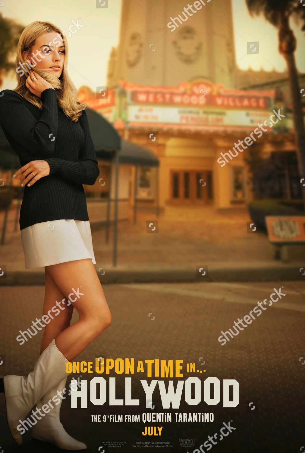 Once Upon Time Hollywood 2019 Poster Art Editorial Stock Photo Stock Image Shutterstock