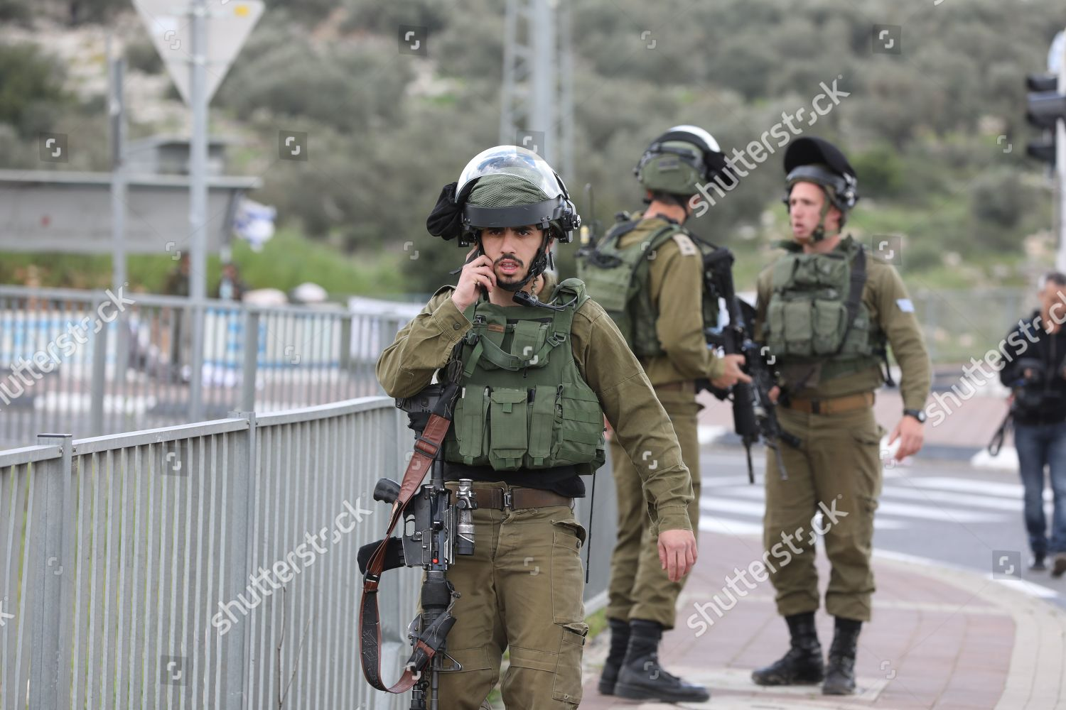 Israeli security forces during hunt Palestinian man Editorial Stock