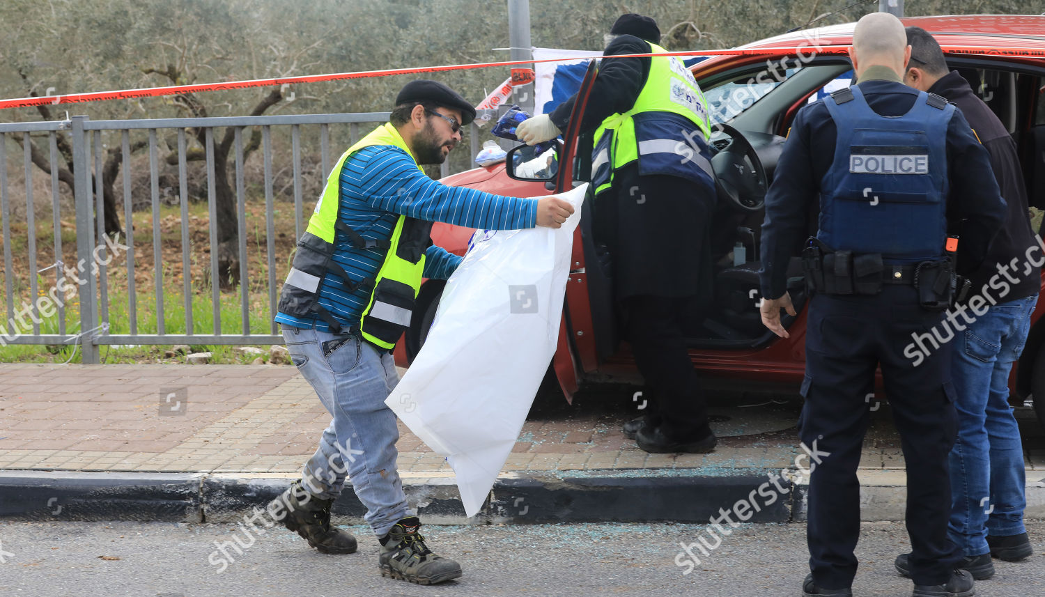Israeli Forensic Experts Security Personnel Inspect Car Editorial Stock Photo Stock Image Shutterstock