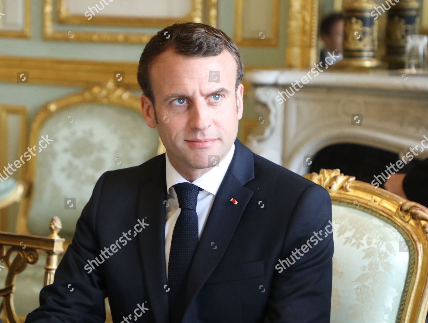 French President Emmanuel Macron Holds Meeting Elysee Editorial Stock Photo Stock Image Shutterstock
