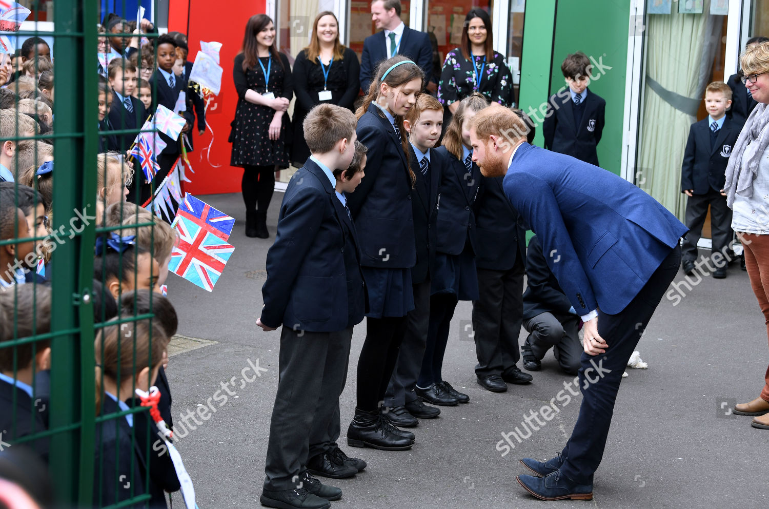 Prince Harry childrens treeplanting project Editorial Stock