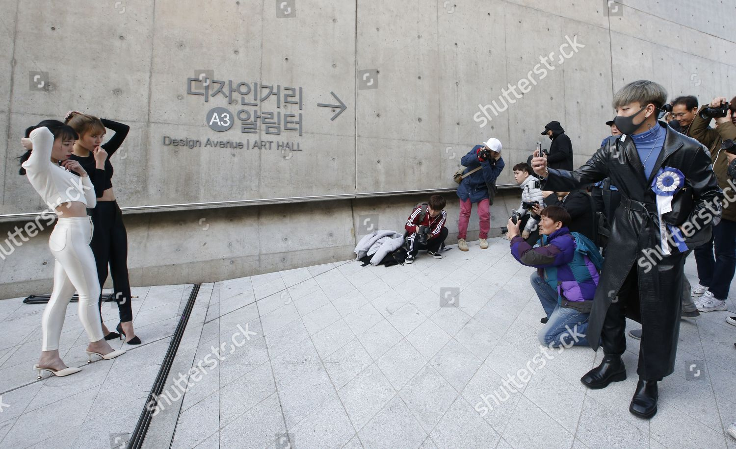 People Pose Pictures Outside Dongdaemun Design Plaza Editorial Stock Photo Stock Image Shutterstock