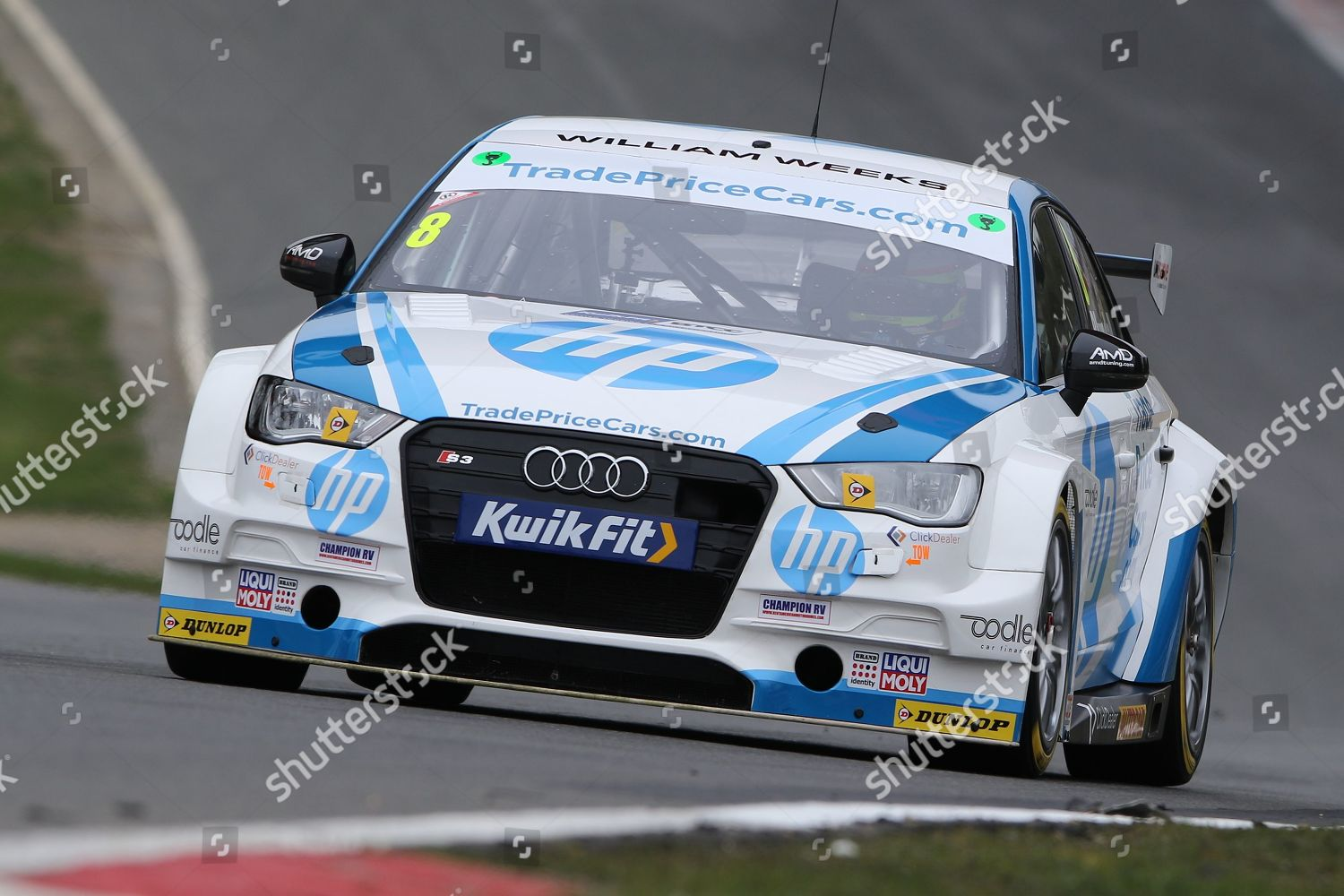 Mark Blundell TradePriceCars Audi S3 during 2019 Editorial