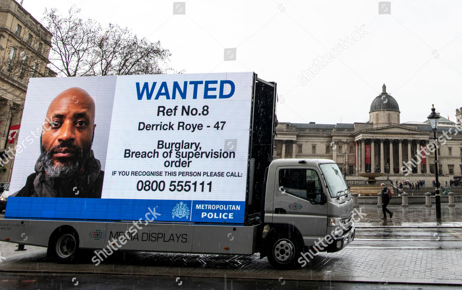 Stock photo of Wanted criminal posters, London, UK - 18 Mar 2019