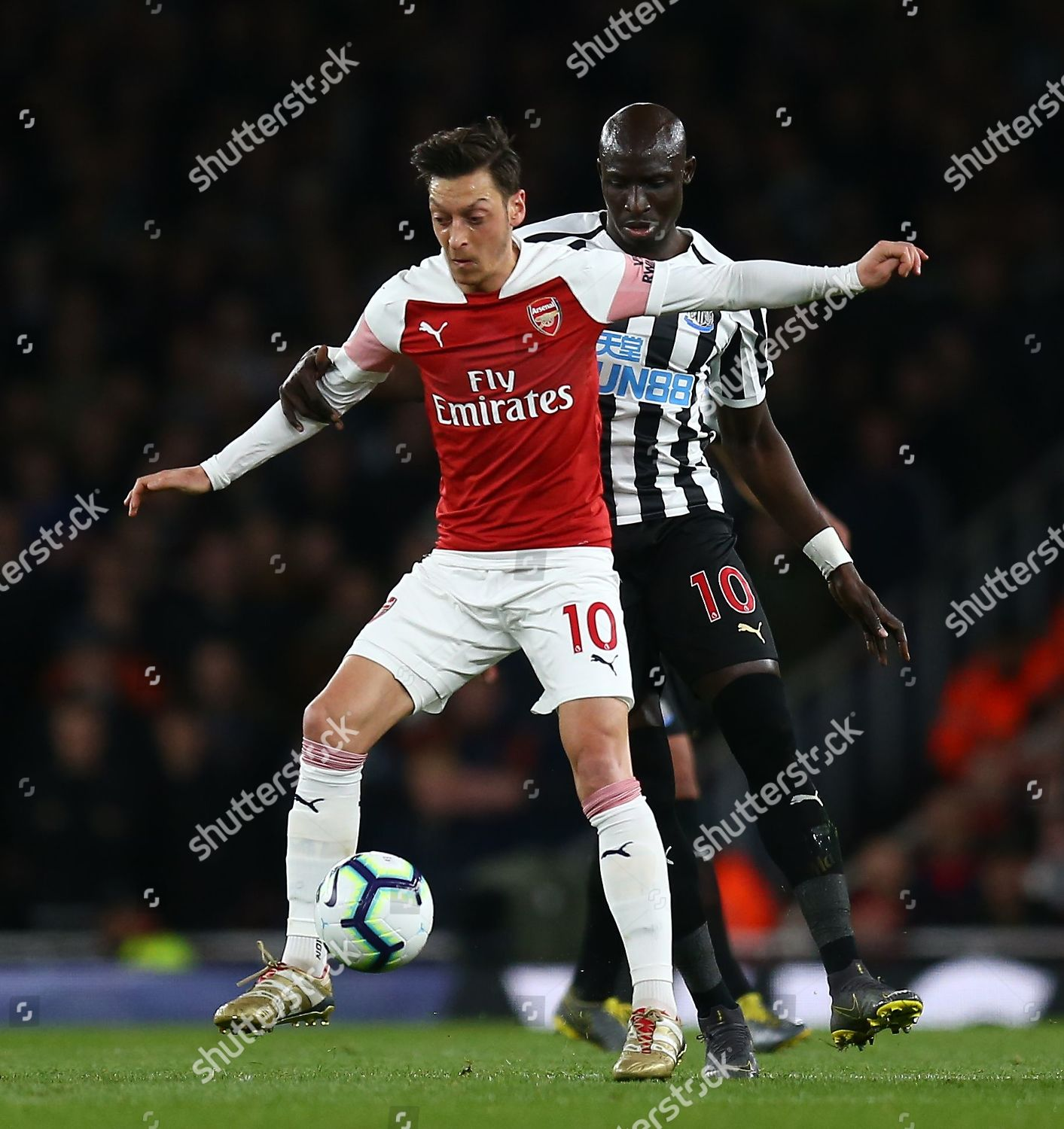 Mesut Ozil Arsenal Battles Mohamed Diame Newcastle Editorial Stock Photo Stock Image Shutterstock