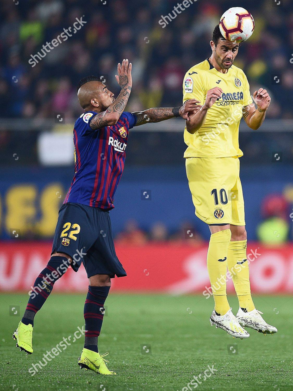 Vicente Iborra Villarreal CF Arturo Vidal FC Editorial Stock Photo